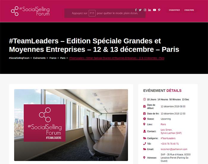 Social Selling Forum Paris